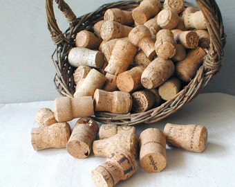 Salvaged Natural Champagne Corks Lot of 25
