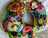 Skull Baby Boppy Nursing Pillow Cover for baby boy or girl Fits Boppy Pillows Alexander Henry Folklorico Cabezas De Coyoacán