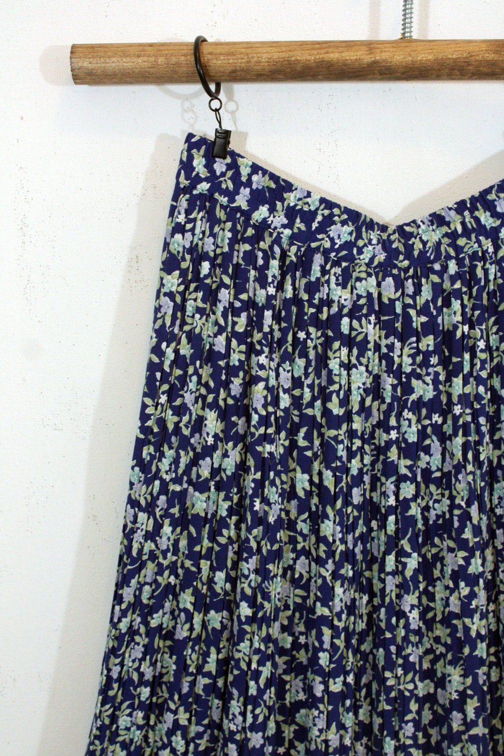 Blue Floral Maxi Skirt S M | Sam Wish