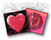 INSTANT DOWNLOAD - Hearts and Crowns 1 x 1 Inch Square Images Digital Collage Sheet Ready to Print