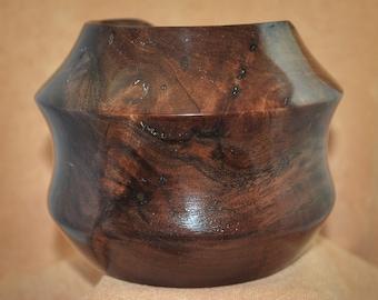 Handmade Wooden Bowl, Claro Walnut Burl, WB - 147