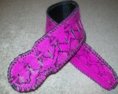 Clearance SALE Raspberry Purple Python Snake Skin Guitar Strap