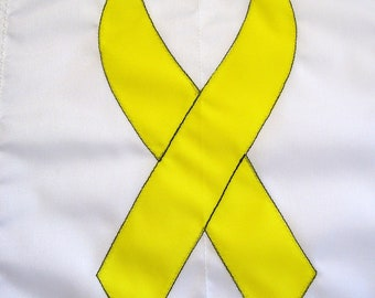 Yellow Ribbon Military Support Garden Flag