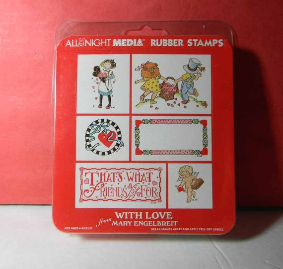 6-Stamp Rubber Stamp Set. With Love from Mary Engelbreit Stamps.  2770