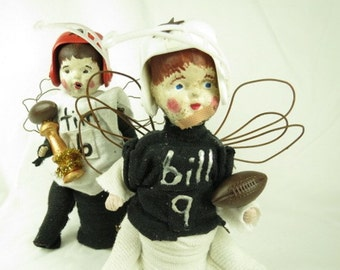 """Angel """"Billy""""  A Football Player Assemblage Art Doll"""