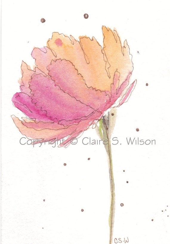 Fruitful Bloom - Original watercolor ACEO