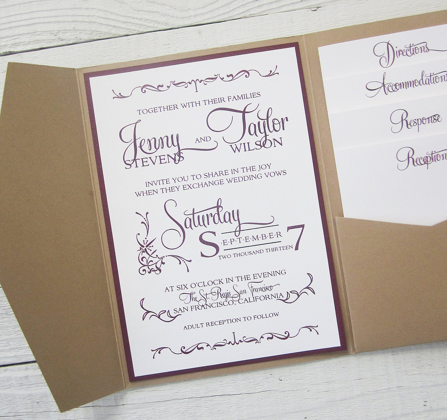 wedding invitations with pockets