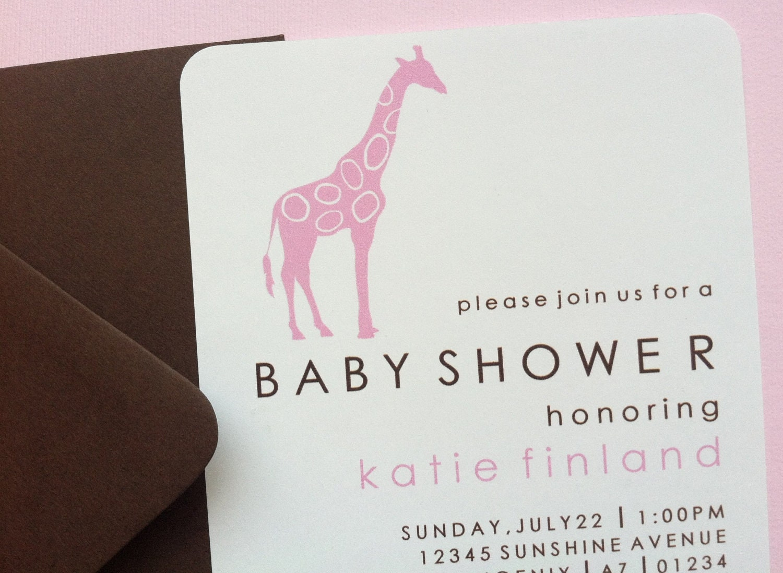 handmade girl baby shower invitation mod by dandelionkidspartyco