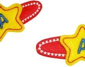 Fun Felts Star Monogram Barette Snap Clip Covers