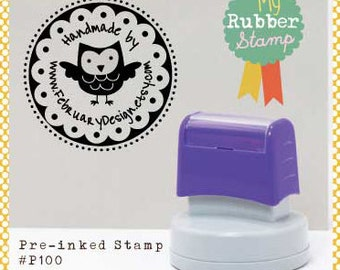 Reserved Listing for merlycer Pre-inked stamp P1058