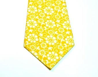 Yellow Necktie Wedding Neckties Mens Neckties Neckties Custom Cotton Neckties