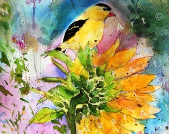 Goldfinch Visitor Greeting Card