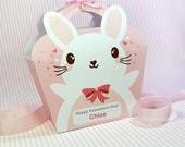 Kawaii Bunny Giftbag Cute Valentine's Day Easter Love Birthday Party Treat basket Bunny Bag Packaging Editable Printable PDF