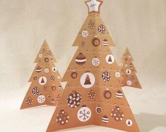 Printable Mini Christmas Tree (Craft)