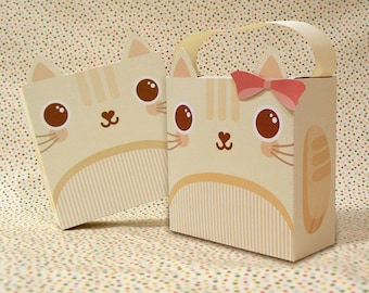 Cute Cat Giftbox Printable PDF