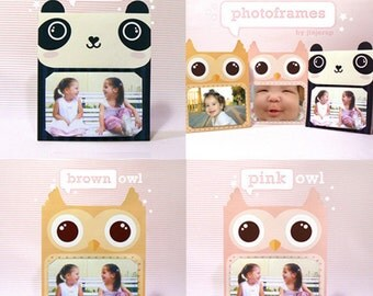 Panda & Owls Photoframe Offer - Printable PDF
