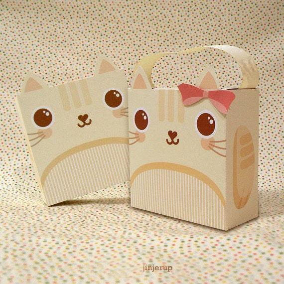 Cute Cat Giftbox Printable PDF