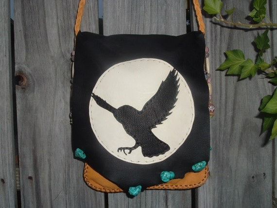 This is(((( reserve for JULIE JAY)))) please don't purchase Deerskin  Medicine Bag Possibles Bag Purse with a Moon and Owl on the front