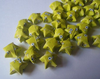 Origami Lucky Stars - Sponge Bob (custom orders available)