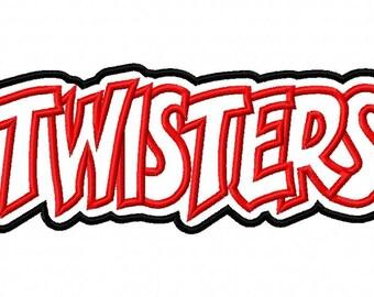 Twisters Embroidery Machine Applique Design 2532