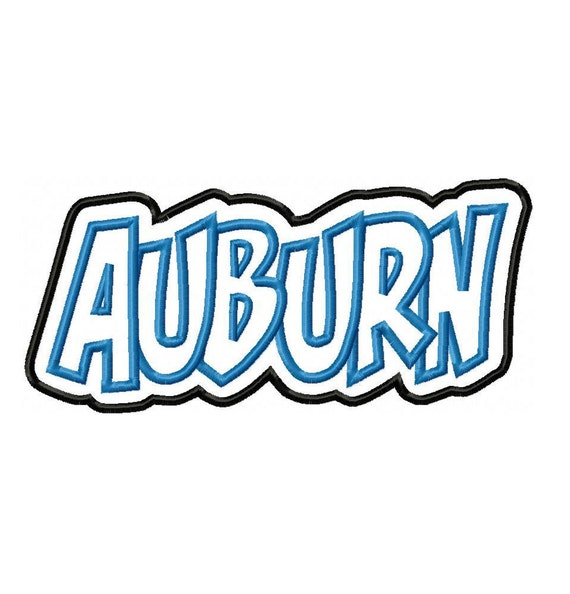 Auburn with a Shadow Embroidery Machine Applique Design 2709