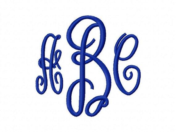 Embroidery Machine Alphabet Monogram Font Set 2172 Instant Download