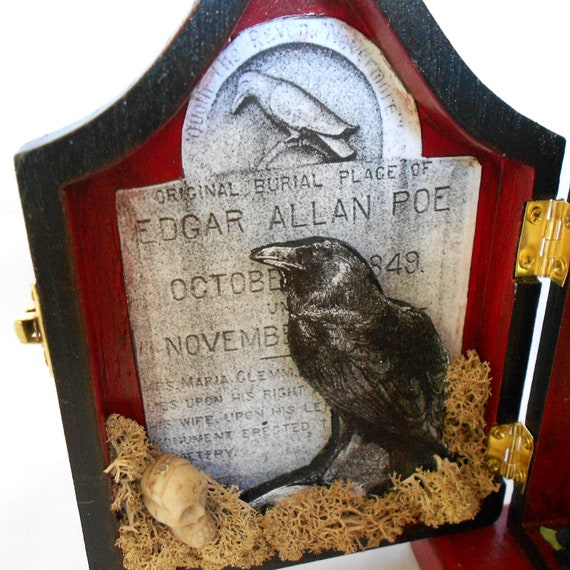 Edgar Allen Poe Shadow Box - Shrine