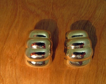 Silver Modernist Earrings