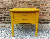 Mid Century Side Table In Mustard Yellow - minthome