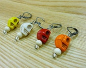 Crochet and knitting stitch markers -- skulls -- your choice of styles