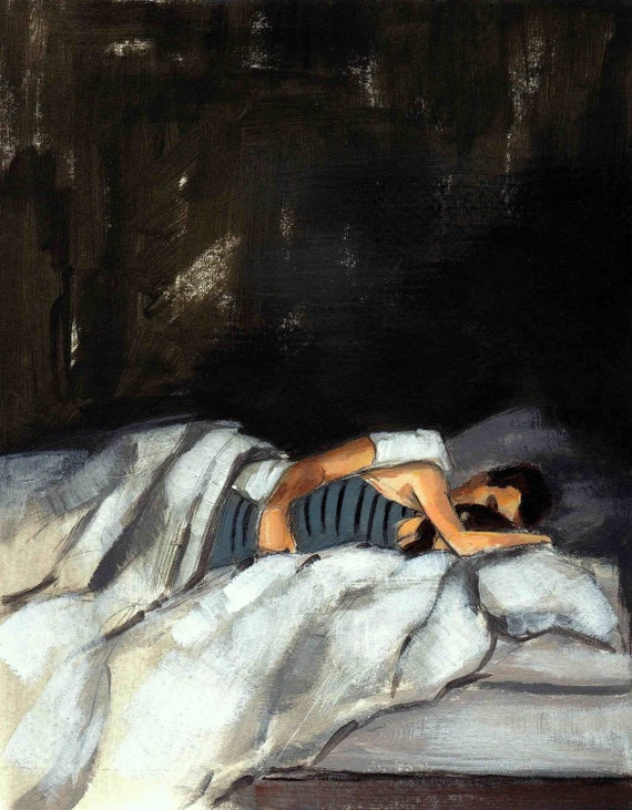Striped Sleeper . giclee print