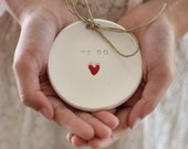 Ring bearer pillow alternative, Wedding ring bearer We Do Ring dish Ring pillow alternative Ceramic ring holder