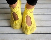 Yellow, Wool, Ballerina, Slippers, Women Slippers,Fashion