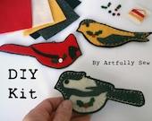 DIY Kit 1201 Felt Wild Bird Ornaments Fusing and Hand Sewing