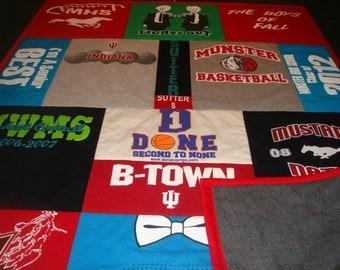 GRADUATION QUILT Custom T-Shirt Blanket