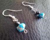 Little Turqoise Earrings on Sterling SEASON END SALE