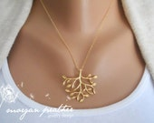 Tree Necklace in Gold - gold tree delicate pendant - gold filled fine chain - Wedding Jewelry - Bridal Jewelry - Gift For - Simple Everyday