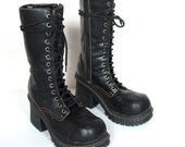 90s Chunky Combat Mid Thigh Boots (9)
