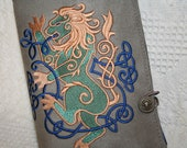 Celtic Lion Embroidered Book Cover