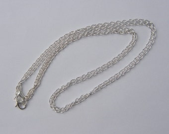 BULK 12 Necklace chains 77cm silver plated