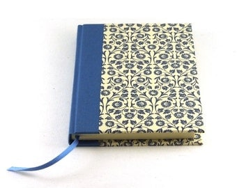 Diary / Notebook graphic floral blue