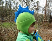 Flying Lizard, Crested Dino or Water Dragon Hat for Infants Toddlers and Children
