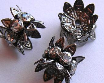 Rhinestone Bead and Double Bead Cap