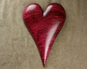 Wedding Anniversary Gift Heart Personalized Wood Carving on Etsy carved by Gary Burns the treewiz, handmade, woodworking