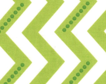 Simply Color by V & Co for Moda Fabrics, Dotted Chevron Lime Green 1/2 yard total