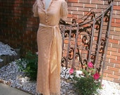 Wonderful Lace 1930 Dressing Gown Great Christmas Gift
