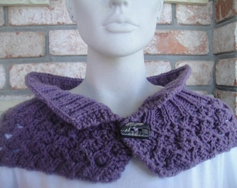 Vineyard Colored Lacy Cowl/Neckwarmer
