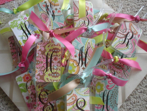 Special Order 21 Anna Pink and Orange Luggage Tags for Bachelorette Party or Bridal Shower