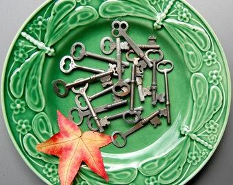 Antique Skeleton Keys - Set of Three - Steampunk, Industrial, Cottage Chic