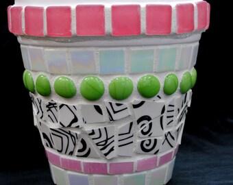 Summer Fun Mosaic Flowerpot  MOO7011
